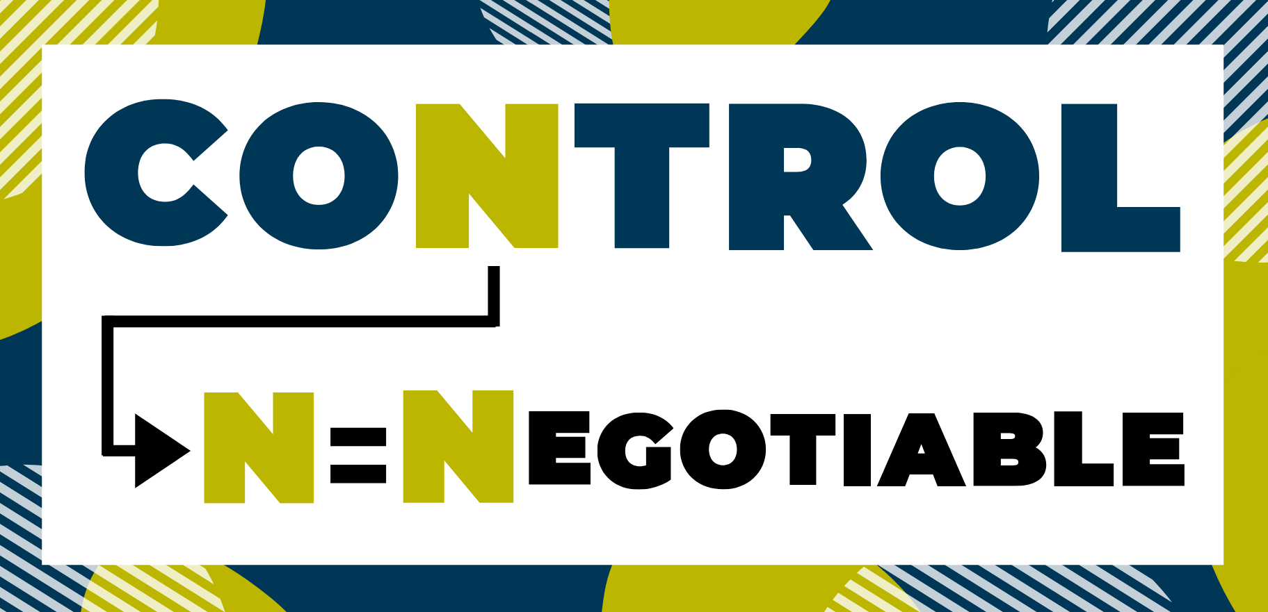 Letter n in control. N = negotiable.