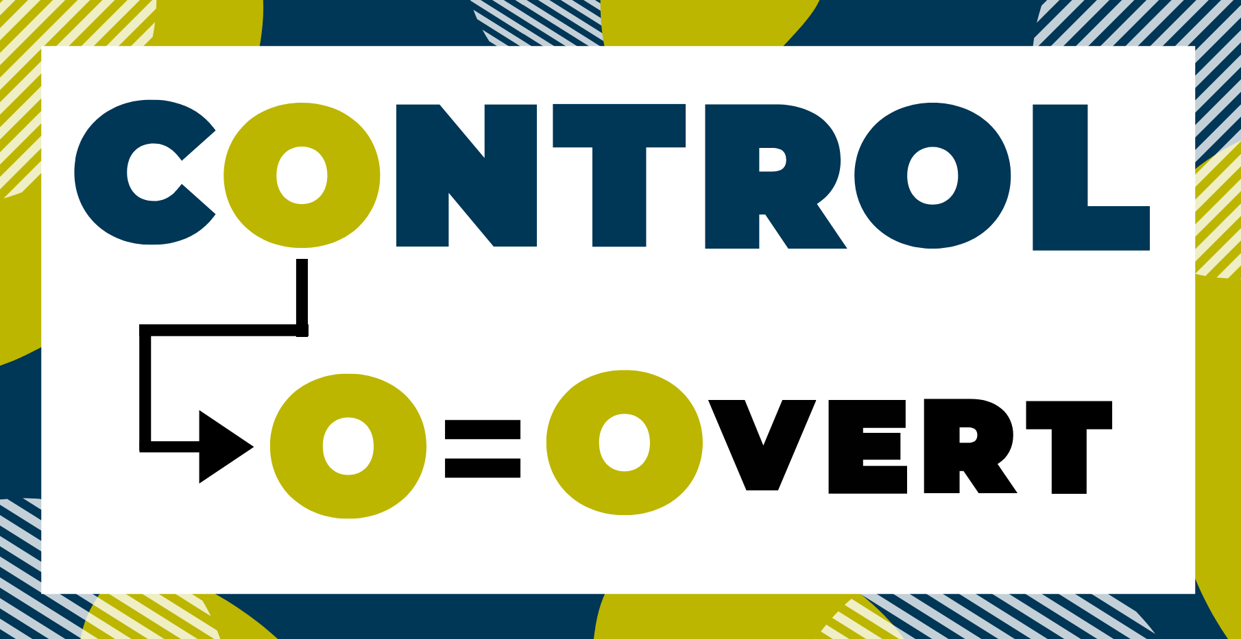 Letter o in control. O= Overt.