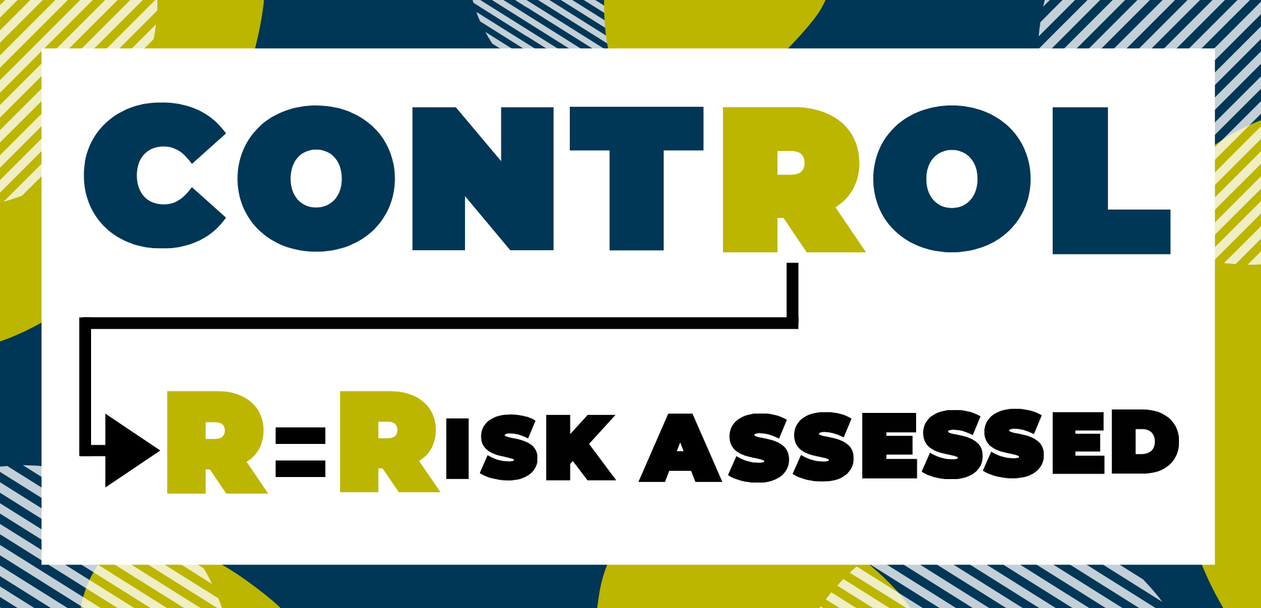 Letter r in control. R = risk assessed.