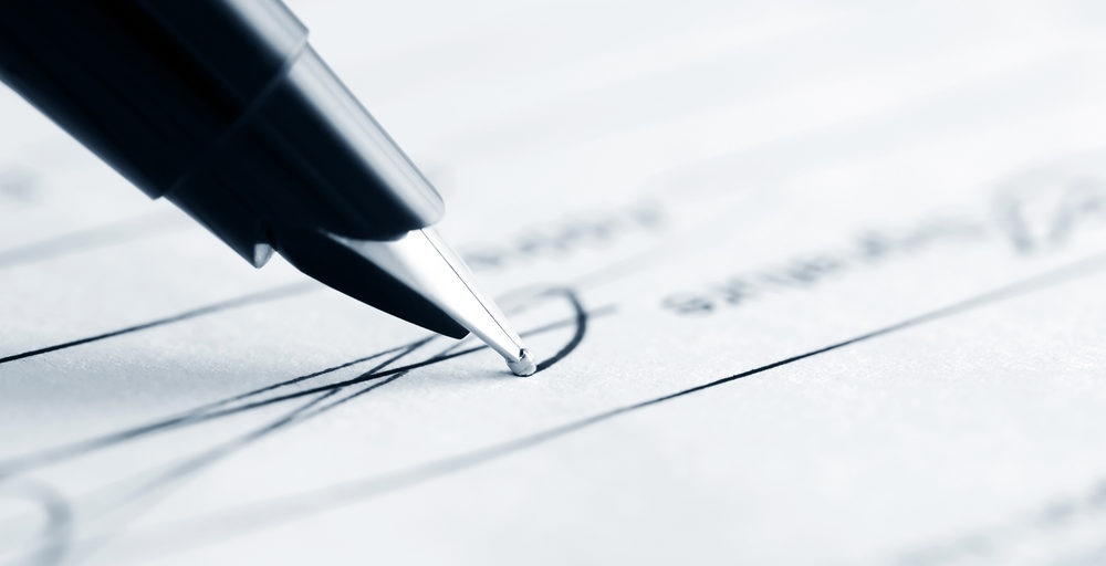 signing a divorce application